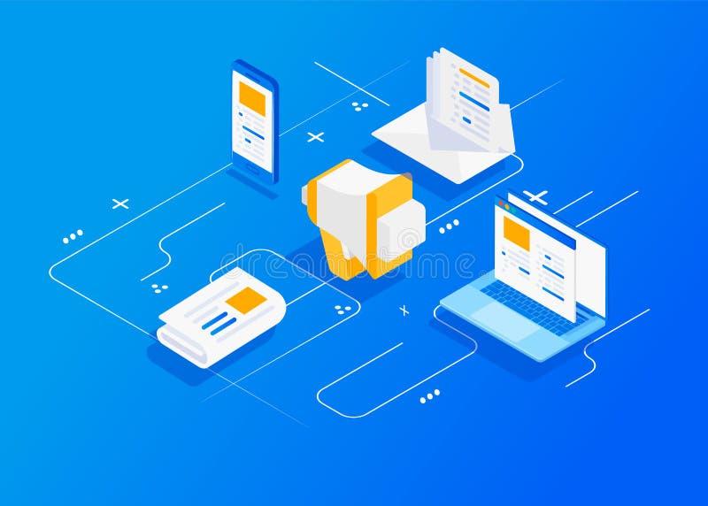 Digitaal op de markt brengend agentschap vector illustratie
