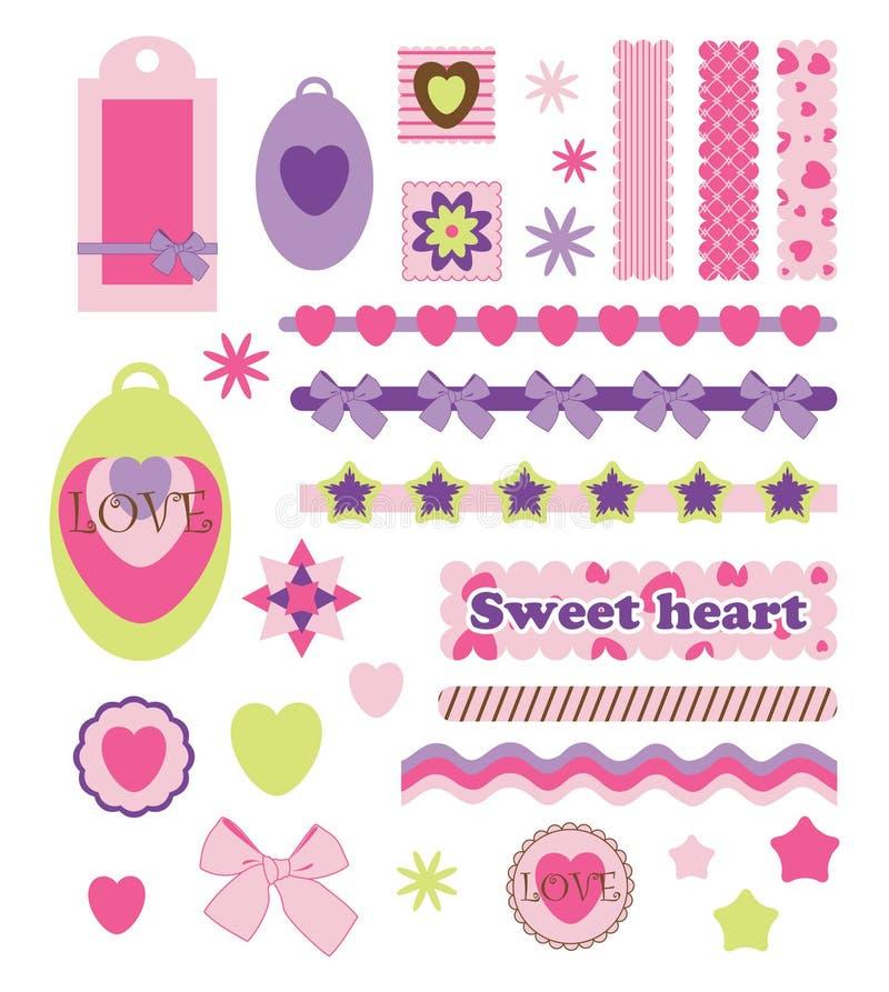 Digitaal plakboek vector illustratie