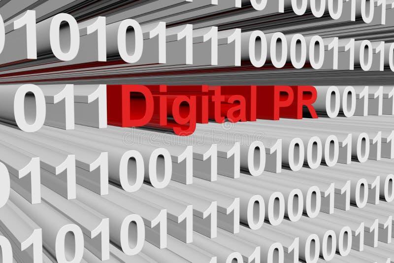 Digitaal PR royalty-vrije illustratie