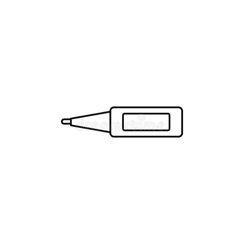 Digitaal thermometerpictogram Element van het Pictogram van Geneeskundehulpmiddelen Het grafische ontwerp van de premiekwaliteit  vector illustratie