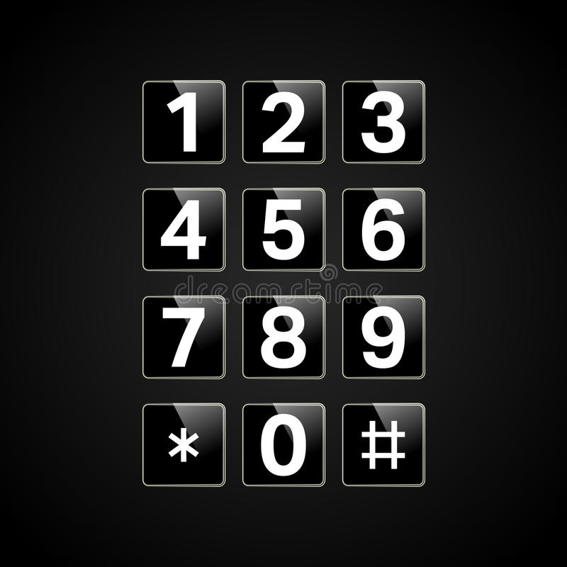 Digitaal toetsenbord met aantallen vector illustratie