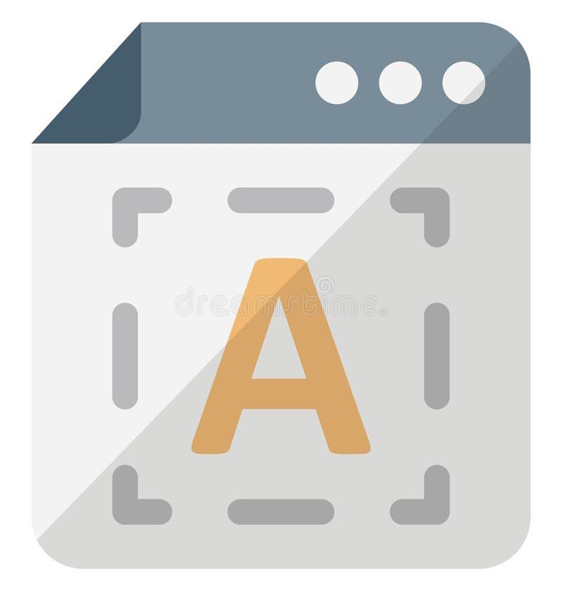 Digitaal typografie Isometrisch geïsoleerd vectorpictogram dat gemakkelijk kan worden gewijzigd of uitgeven stock illustratie