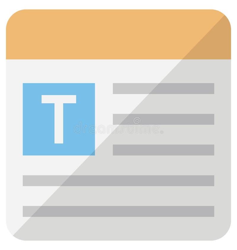 Digitaal typografie Vectorpictogram dat zich gemakkelijk kan wijzigen of uitgeven royalty-vrije illustratie