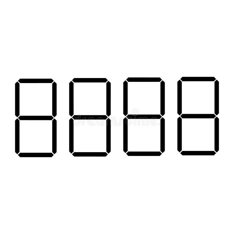 Digitaal van prijskaartjecijfers of aantallen vectormalplaatje voor winkel of supermarkt vector illustratie