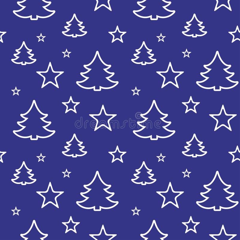 Digitaal vector blauw gelukkig nieuw jaar stock illustratie