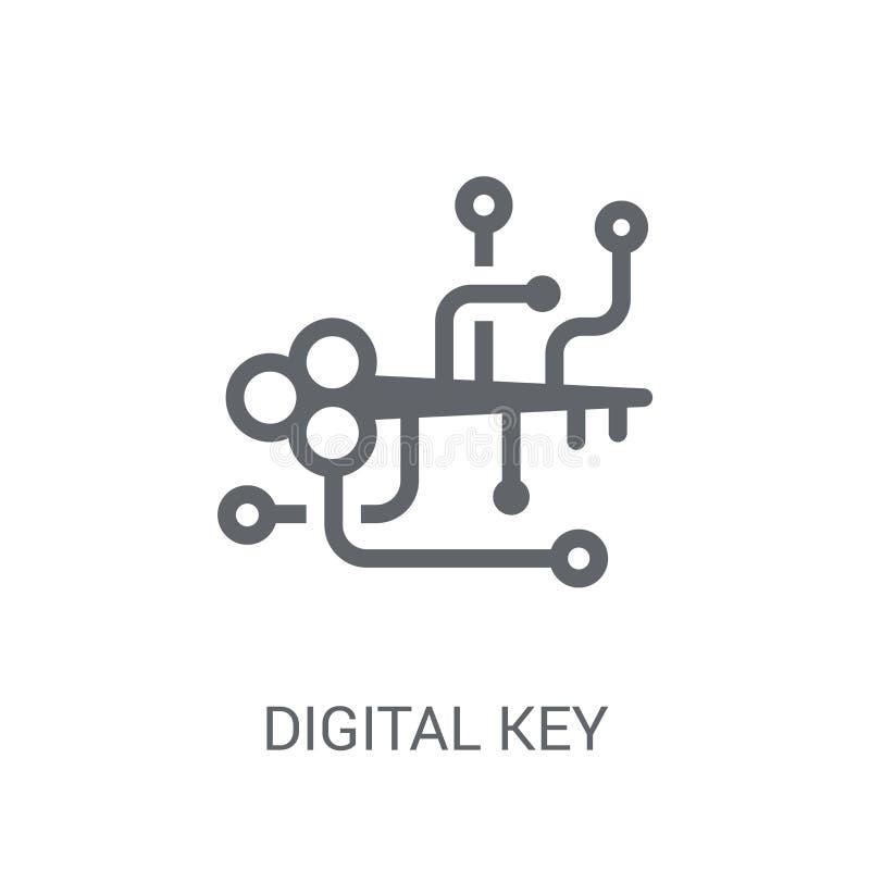 digitaal zeer belangrijk pictogram  stock illustratie