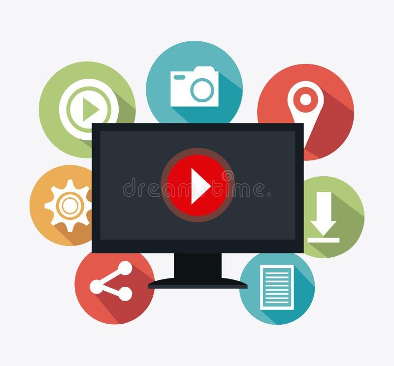 Digitaces y estrategias de marketing sociales libre illustration