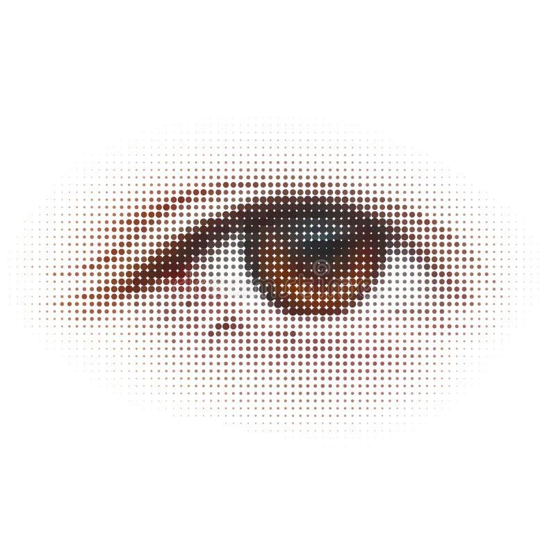Digitahi - occhio. Illustrazione astratta. ENV 8 royalty illustrazione gratis