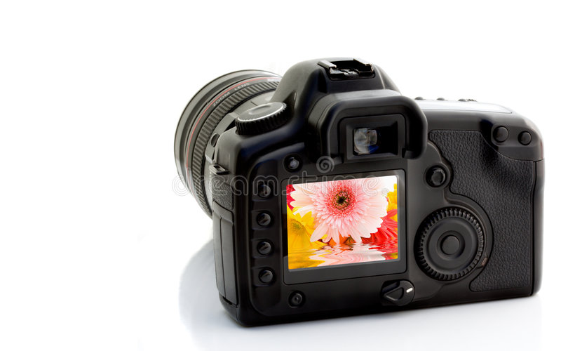 Digitahi SLR immagini stock libere da diritti