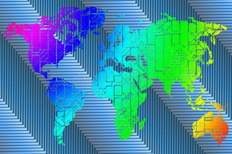 digital översikt vektor illustrationer