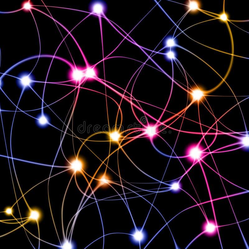 Digital-Abbildung des Neurons lizenzfreie abbildung