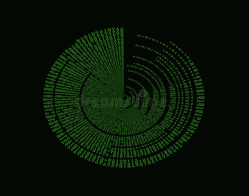 Binary Code Vortex stock photo