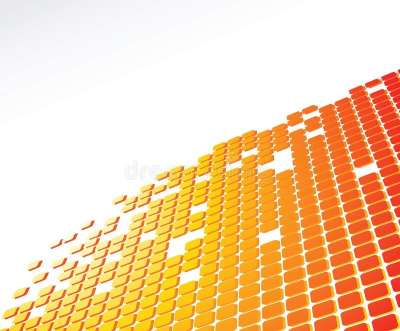 Digital abstract background. Orange color digital abstract background stock illustration