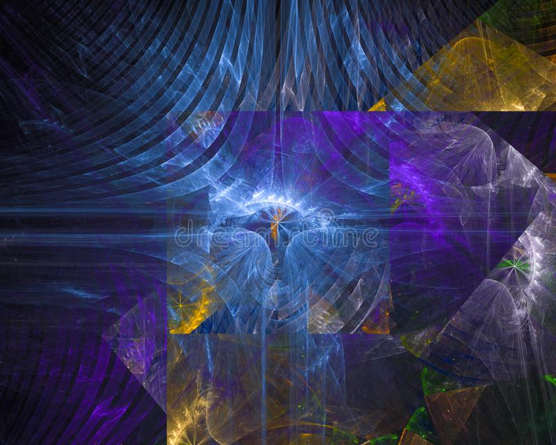 Digital abstract fractal chaos renderi pattern creative surreal overlay futuristic graphic fantasy design dream dynamic. Digital abstract fractal , chaos design stock illustration