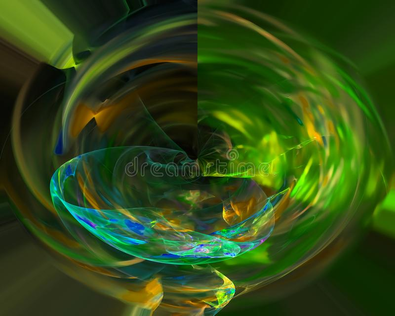 Digital abstract fractal curve overlay shape decoration dynamic energy. Digital abstract fractal, design artistic graphic overlay curve royalty free illustration
