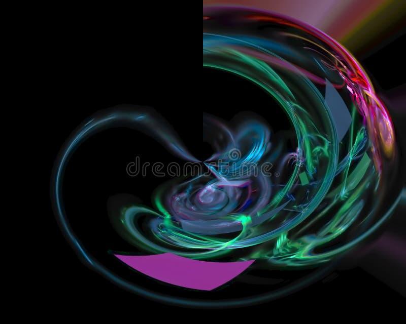 Digital abstract fractal wallpaper power , fantasy template design dark, artistic style shape. Digital abstract fractal, fantasy design dark artistic night wave vector illustration