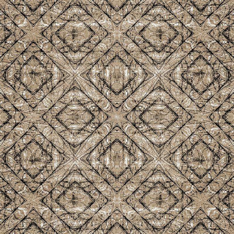Grungy Diamonds Motif Seamelss Pattern stock images