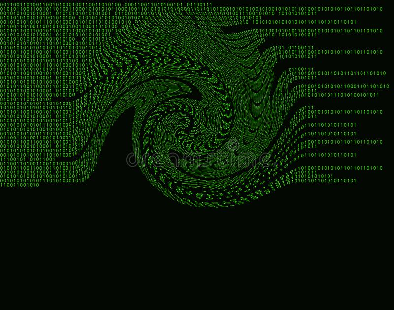 Hacker Attack Binary Code 3 swirl royalty free stock images