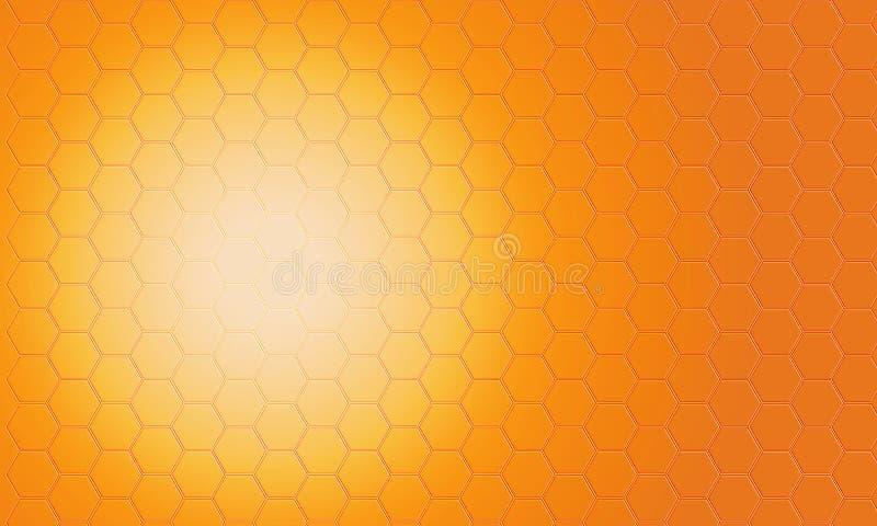 Digital abstract orange pentagon pattern background. Digital abstract orange pentagon background stock illustration