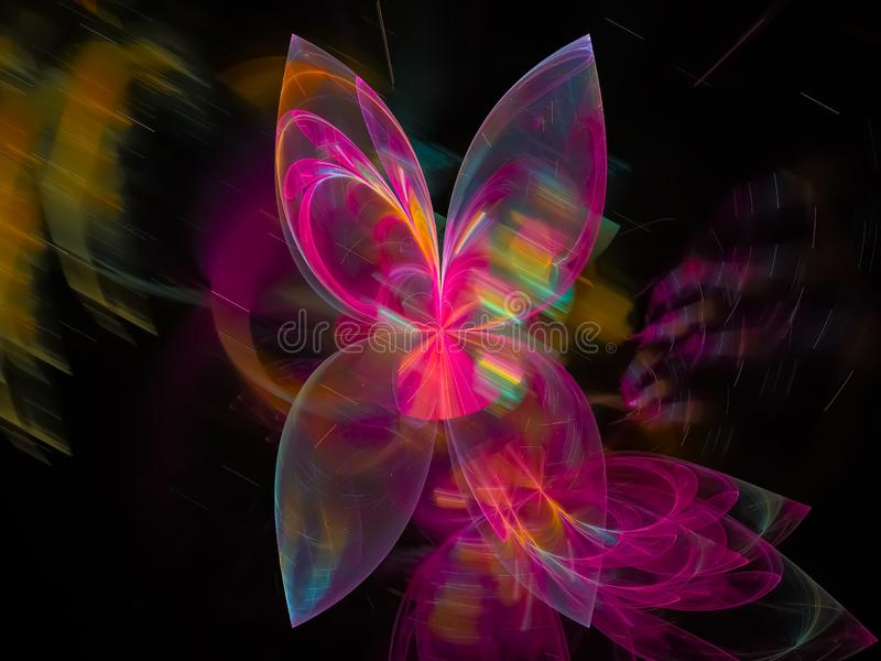 Digital abstract style fractal, modern texture graphic beautiful design, fantasy, festive stock illustration