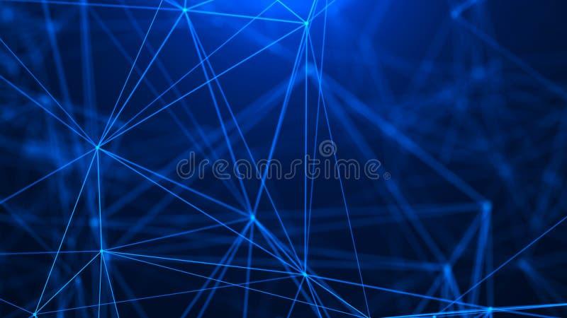 digital abstrakt bakgrund F?rbindande Dots And Lines Stor datavisualization abstrakt teknologi f?r bakgrundsanslutningsn?tverk In fotografering för bildbyråer