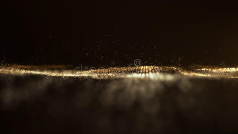 Digital abstrakta partikelflöden i Cyberutrymmebakgrund royaltyfria foton