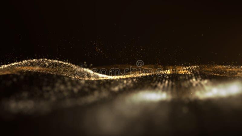 Digital abstrakta partikelflöden i Cyberutrymmebakgrund arkivbild