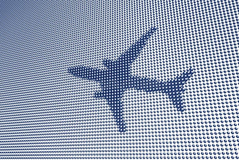 Digital Aircraft Symbol. Digital Symbol of Aircraft in Flight royalty free stock photos