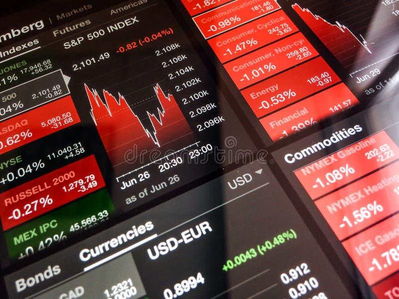 Digital aktiemarknaddiagram arkivfoton