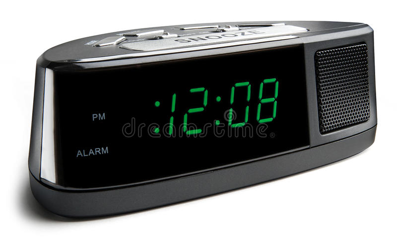 Digital Alarm Clock stock photography