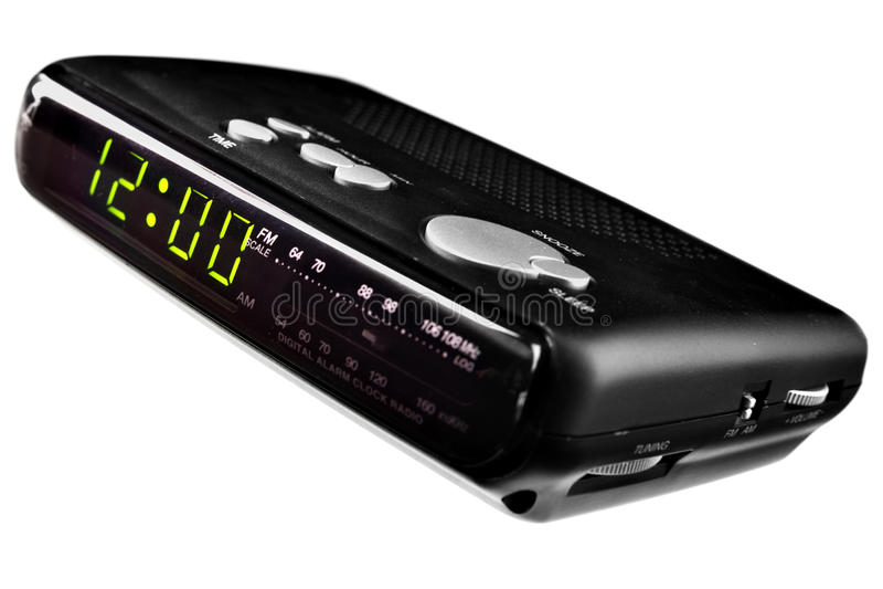 Digital alarm clock radio stock image