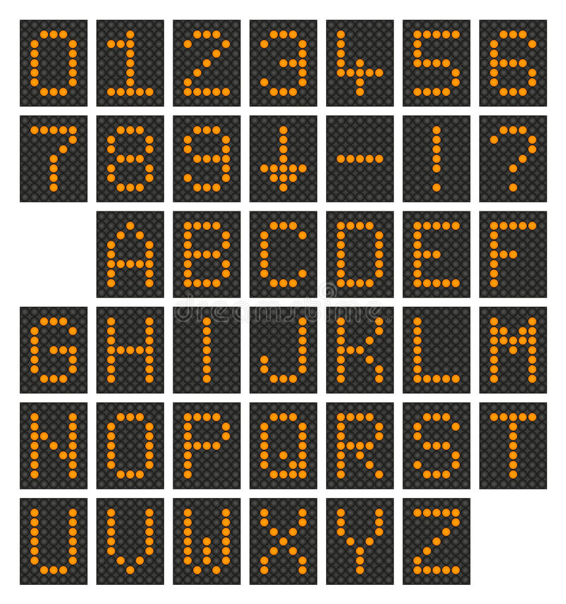 Digital Alfabet & Nummer Royaltyfri Bild