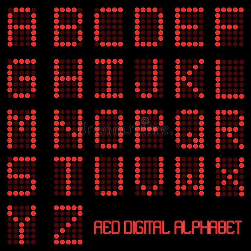 Digital-Alphabet stock abbildung