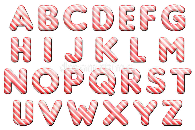 Download Digital Alphabet Candy Cane Style Scrapbooking Element Stock Photo - Image of color, digital: 44208322