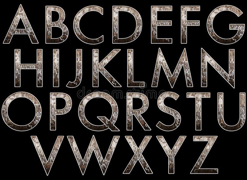 Digital-Alphabet Diva Style Scrapbooking Element vektor abbildung