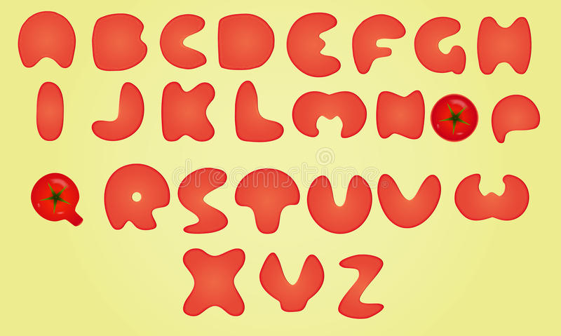 Digital-Alphabet-Karikatur und komisches Element stock abbildung