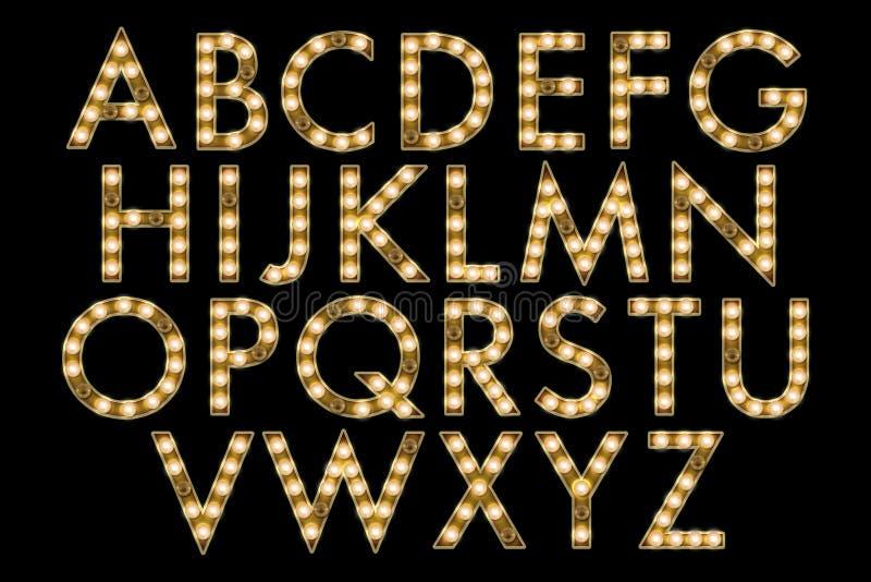 Digital Alphabet Marquee Style Scrapbooking Element vector illustration