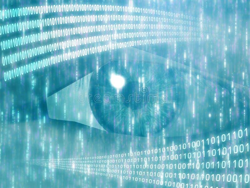 Digital-Anblick lizenzfreie abbildung
