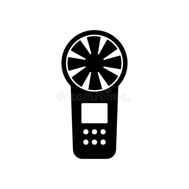 Digital anemometer icon. Available in high-resolution and several sizes to fit the needs of your project stock illustration