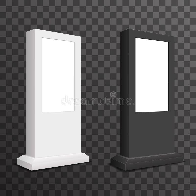 Digital annonçant le message publicitaire transparent réaliste de fond de conception de panneau d'affichage d'enseigne de bannièr illustration de vecteur