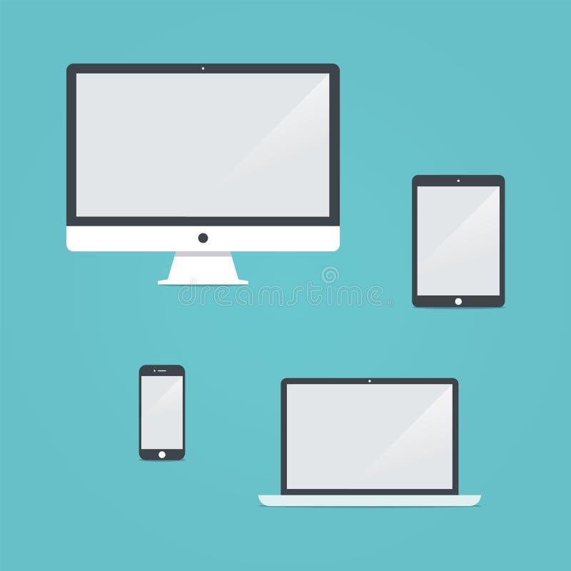 Digital apparatvektor royaltyfri illustrationer