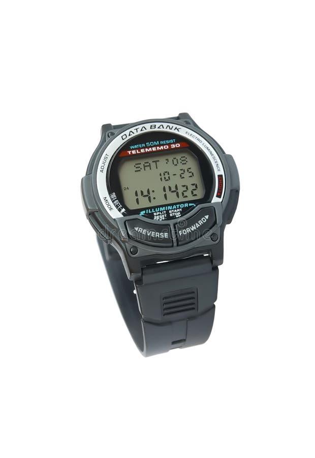 Digital-Armbanduhr stockbilder