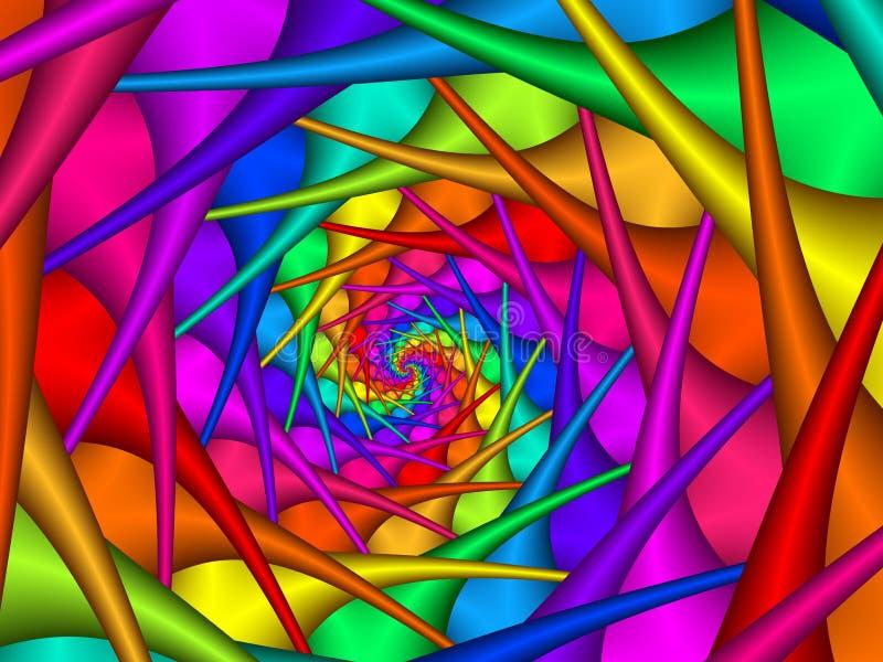 Digital Art Abstract Rainbow Spiral Background lizenzfreies stockbild