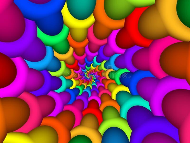 Digital Art Abstract Rainbow Spiral Background royalty free illustration