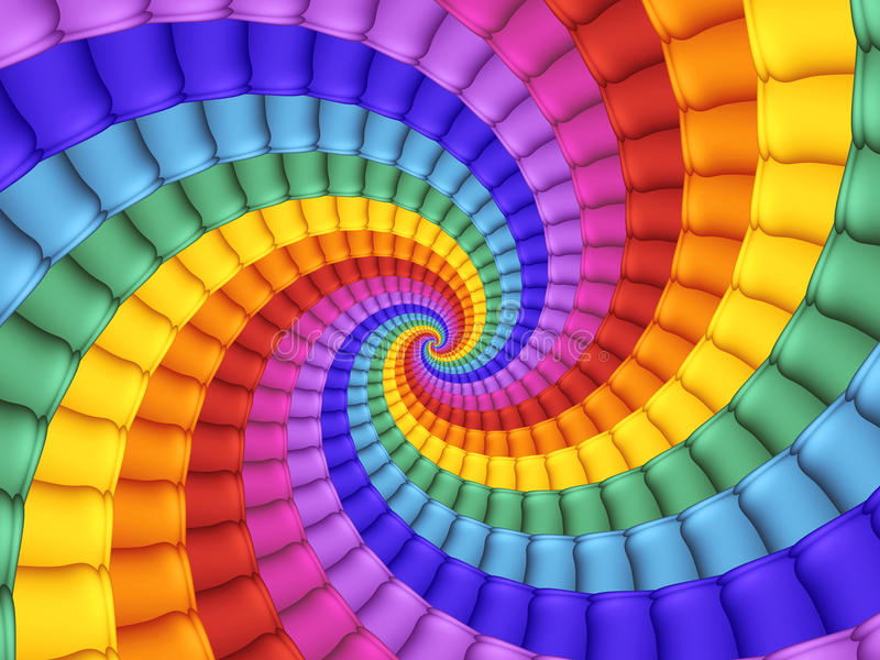 Digital Art Abstract Rainbow Spiral Background vector illustration