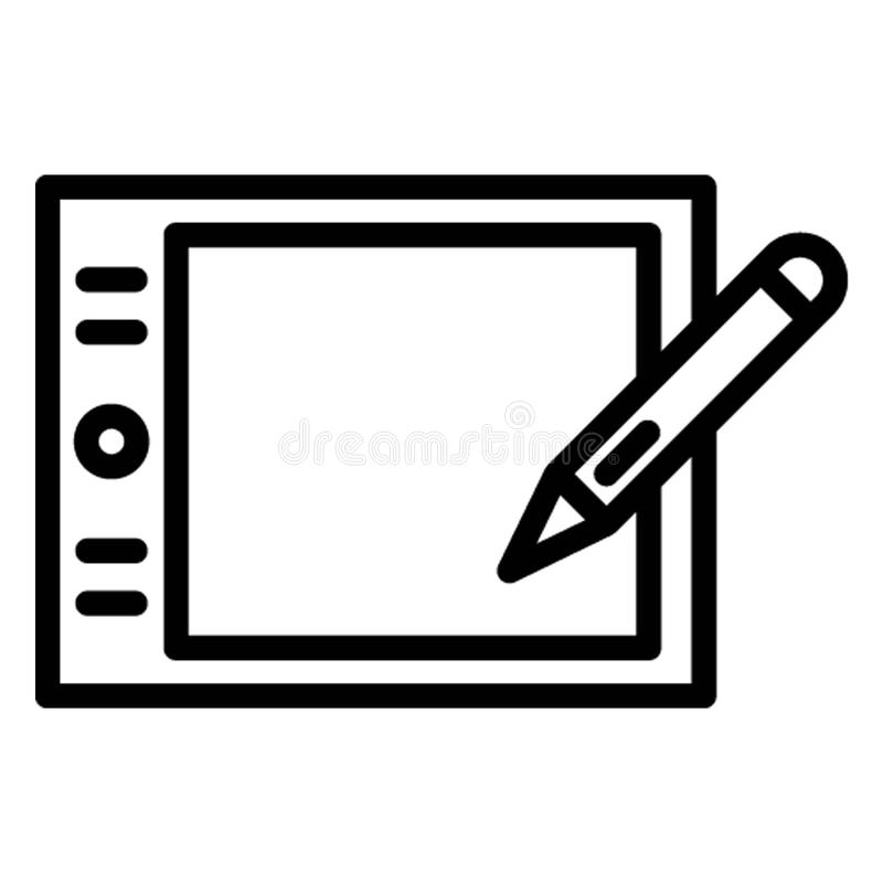 Digital art board Isolated Vector Icon which can easily modify stock illustration