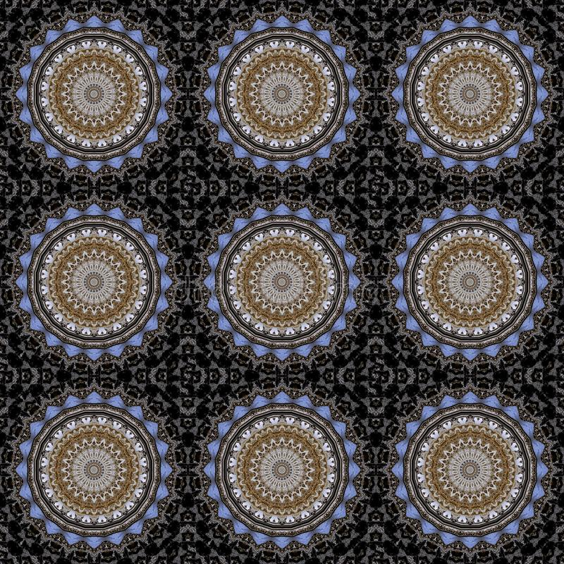 Digital art design, architecture seen through kaleidoscope. Digital art design, abstract texture ine a church the cupola seen through kaleidoscope stock illustration