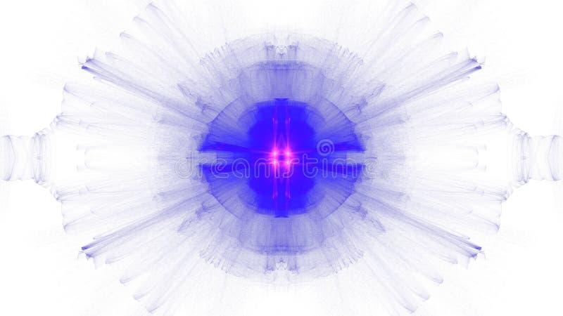 Digital art design blue vibrant on white background vector illustration