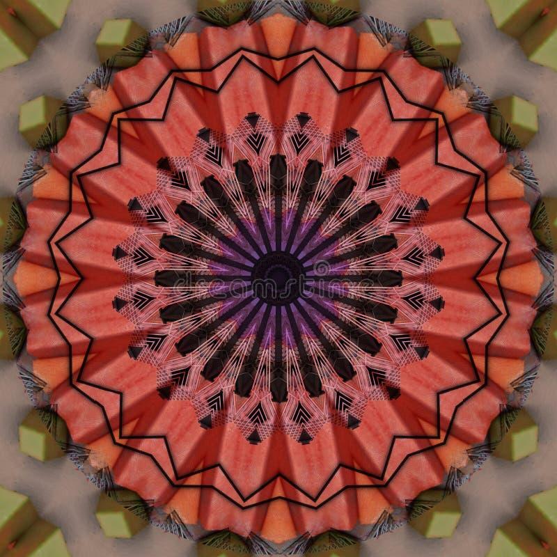 Colorful facade  seen through kaleidoscope. Digital art design, colorfulf facade seen through kaleidoscope, computer generated vector illustration