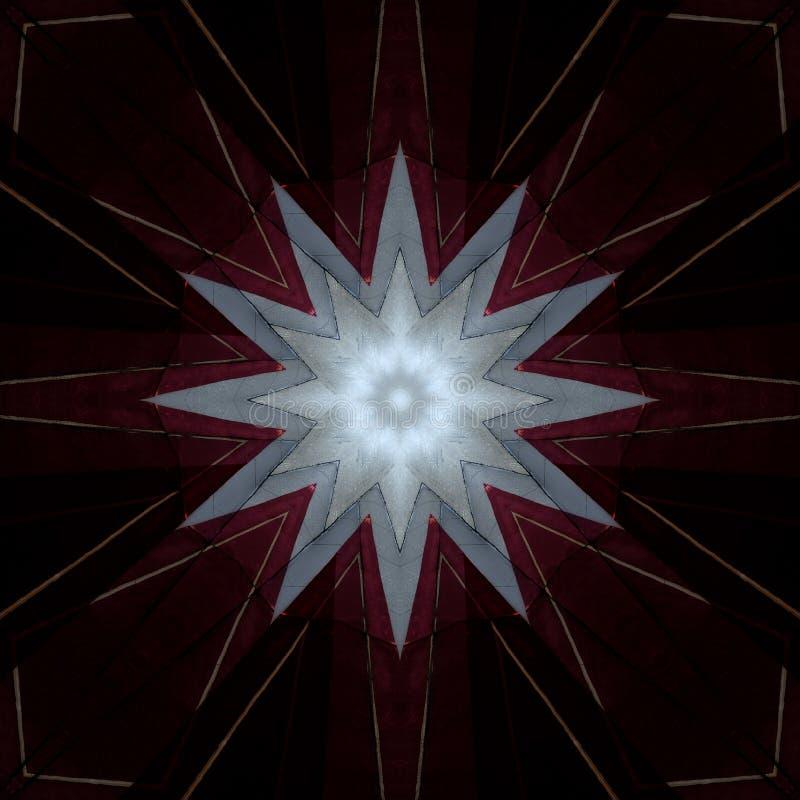 Digital art design star on burgundian red royalty free illustration